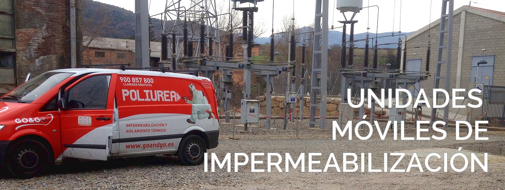 Unidad móvil de impermeabilización