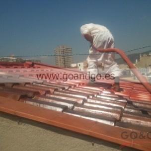 impermeabilización de tejado con poliurea -7