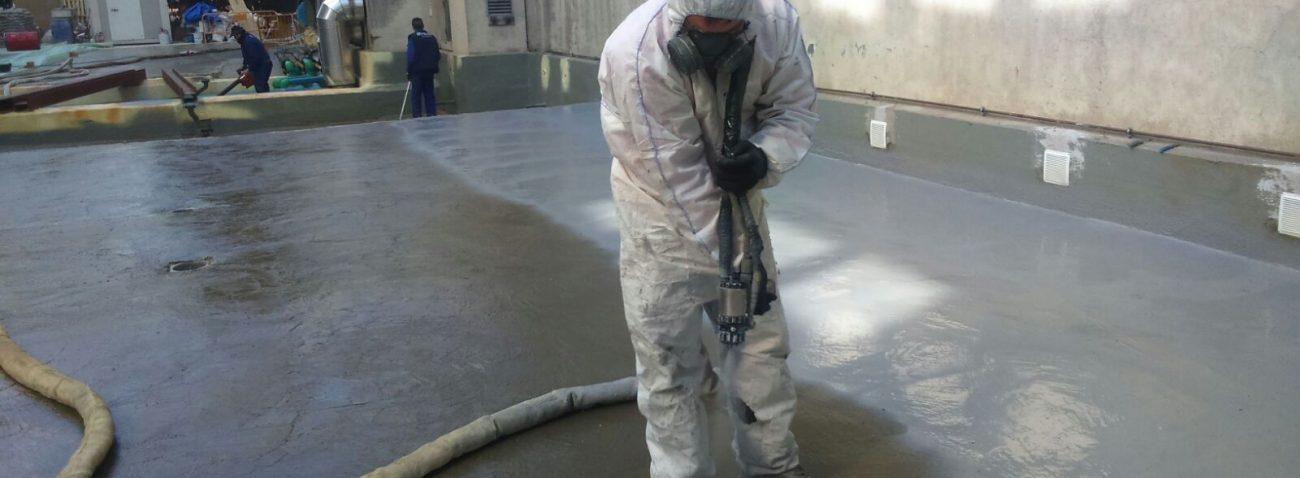 Impermeabilización con poliurea de losa en Edificio Mutua Madrileña en Madrid.
