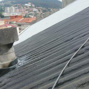 Impermeabilizacion de cubierta con poliurea en Pontevedra 11