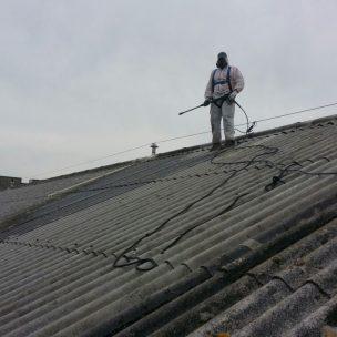 Impermeabilizacion de cubierta con poliurea en Pontevedra 13