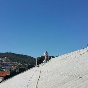 Impermeabilizacion de cubierta con poliurea en Pontevedra 16