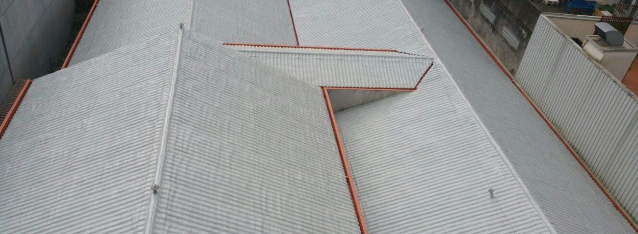 Impermeabilizacion de cubierta con poliurea en Biblioteca Municipal de Pontevedra