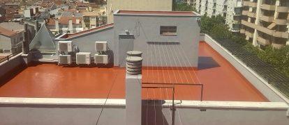 Impermeabilización de cubiertas en Mancomunidad de Propietarios en Sabadell