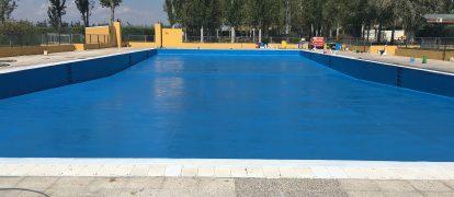 Rehabilitación e impermeabilización con poliurea de piscina municipal Algete, Madrid