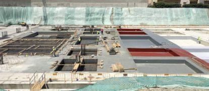 Impermeabilización con Poliurea de losa y zapata de cimentación para oficinas Iberdrola