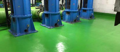Rehabilitación e Impermeabilización con Poliurea Pavimento en Depuradora Agua Marina en Port Fórum, Barcelona.