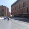 Impermeabilización con Poliurea de forjado en Pabellón Deportivo de San Andreu, Barcelona