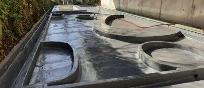 Impermeabilización con Poliurea Jardines Edificio Clip, Madrid